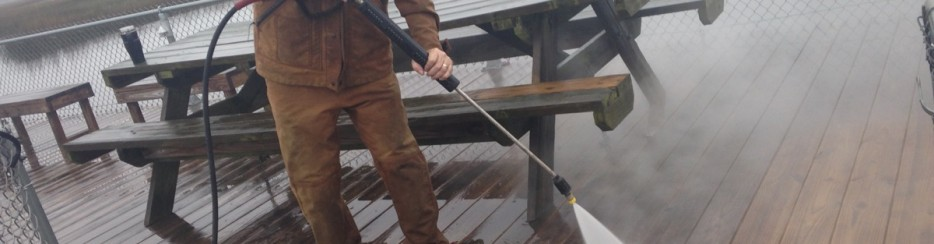 Pressure Washing helps improve decks, patios, homes, driveways and much more
