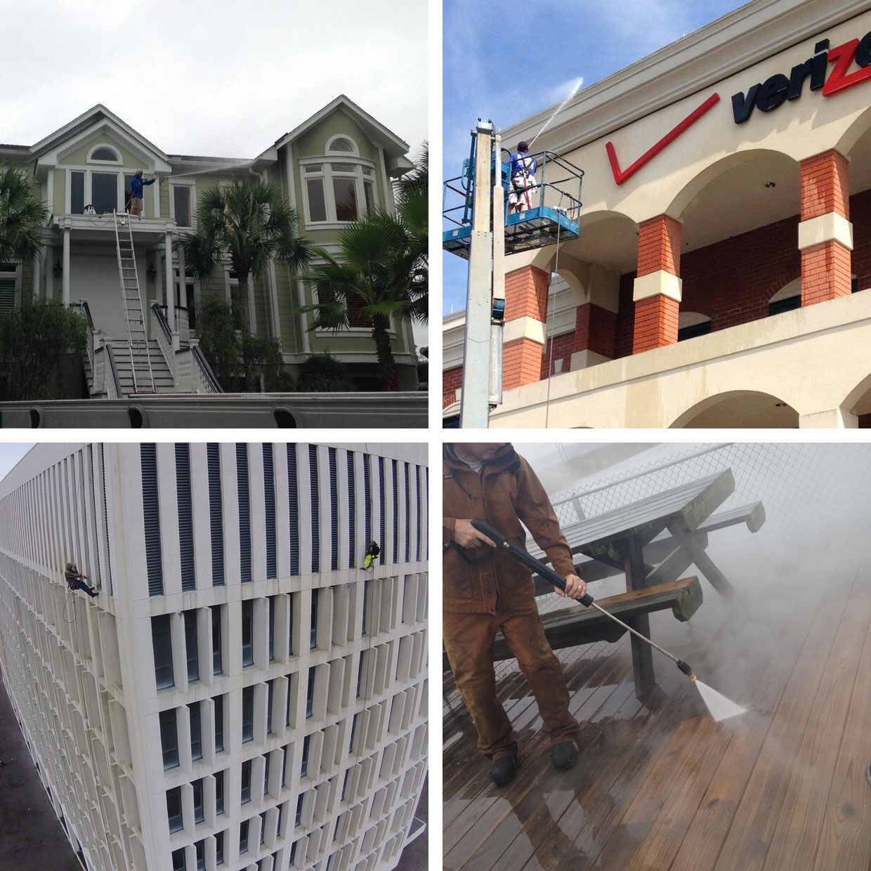 ambassador window cleaning pressure washing roof cleaning commercial resididential photo collage